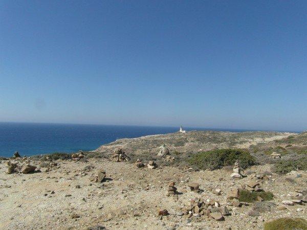 Maják na poloostrově Prasonisi - nejjižnější bod Rhodosu