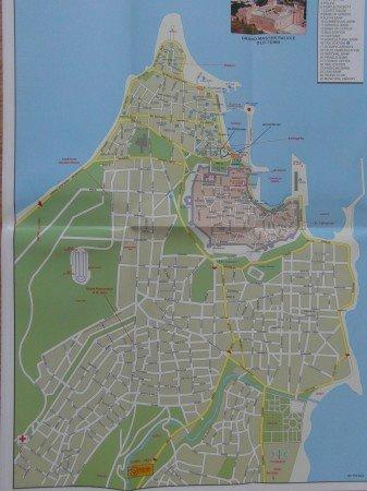 Plán hlavního města Rhodos