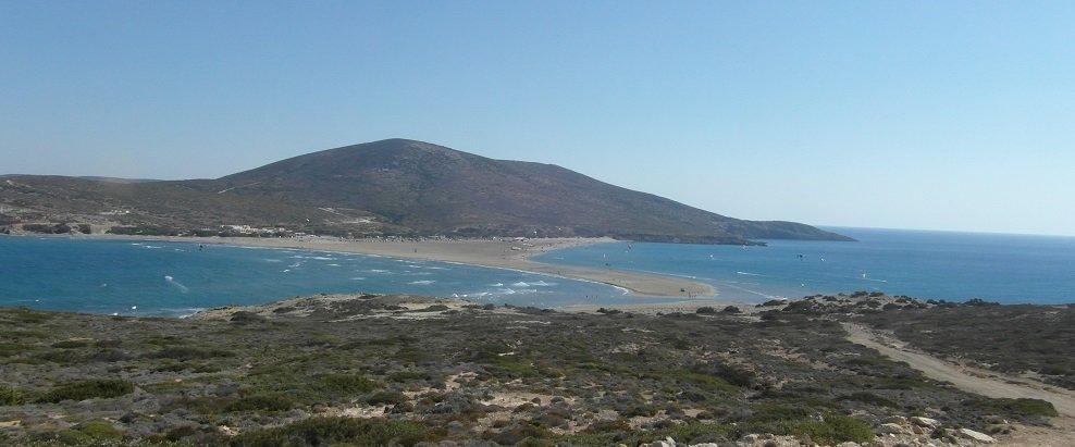 Dovolená Rhodos - Prasonissi - polibek dvou moří